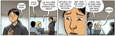 Bridge Burning Merit Badge [Comic]